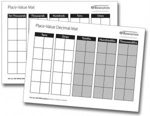 Place Value Mats Set of 10