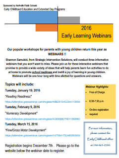 Early Learning Webinar Flyer 2016 pic