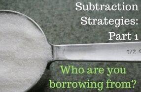 subtraction strategies pt 1