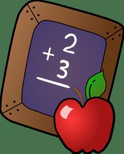 addition chalkboard