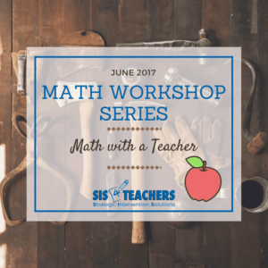 math workshop with teacher