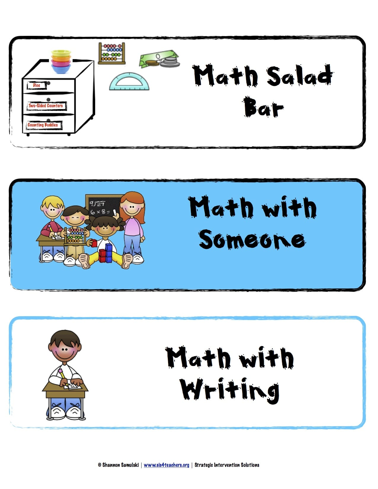 Math Workshop Series: Overview and Organization – SIS For Teachers