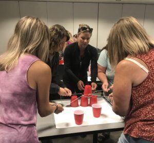 teachers doing cup challenge