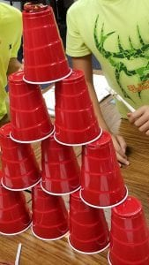 cups in a stack