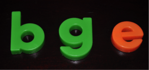 bge magnetic letters