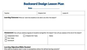 backwards design