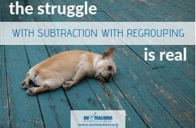 subtraction struggle