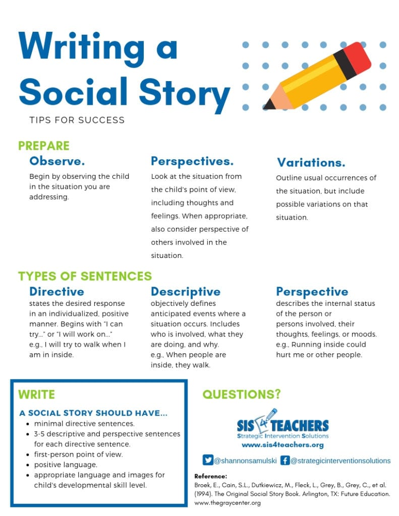 Writing a Social Story