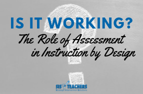 Is it Working?? The Role of Assessment in Instruction by Design