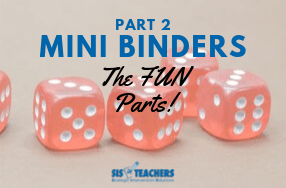 Mini Binders Part 2: The Fun Part!