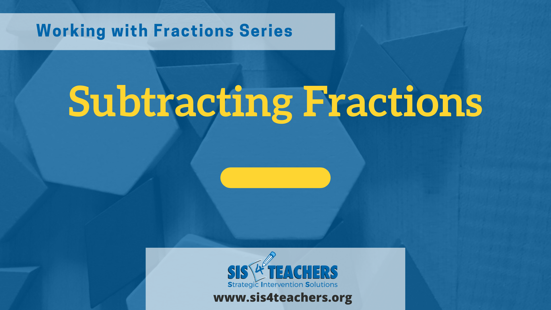 Working with Fractions: Subtracting Fractions