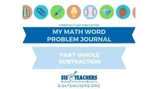 1st Grade Problem Solving: Part-Whole Subtraction