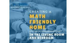 Creating a Math Friendly Home in the Living Room/Bedroom
