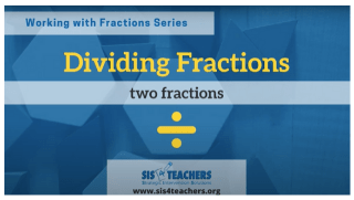 Dividing Fractions: Two Fractions