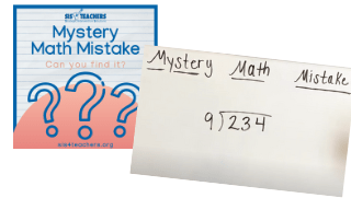 Mystery Math Mistake – Division