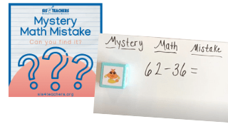 Mystery Math Mistake: Open Number Line