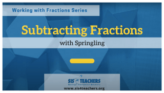 Subtracting Fractions: Springling