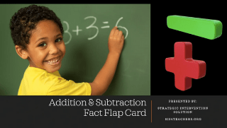 Addition/Subtraction Fact Flap Cards