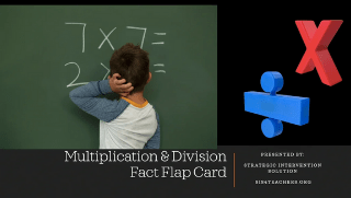 Multiplication/Division Fact Flap Card