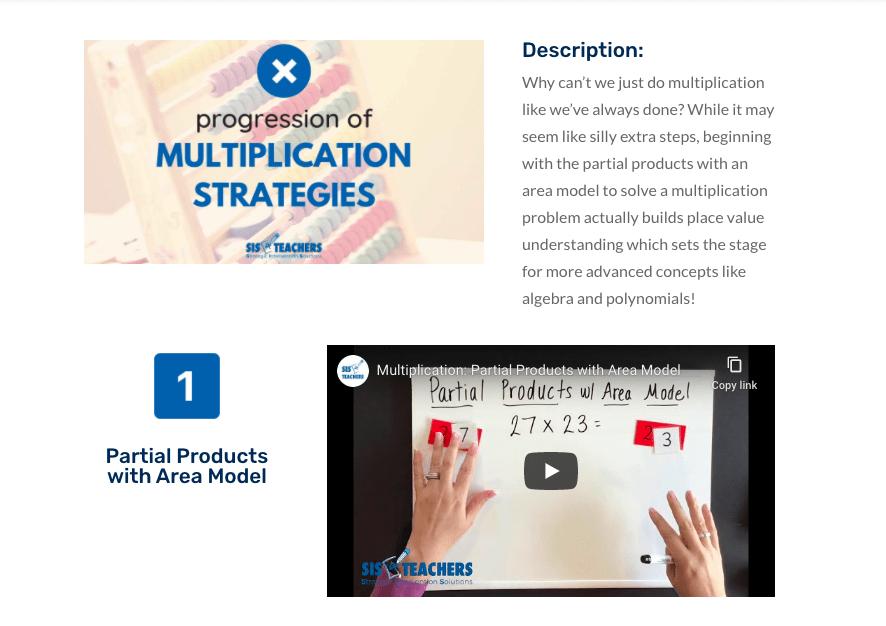 multiplication progression