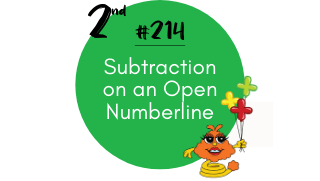 214-Subtraction on an Open Numberline