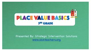 Place Value Basics – 3rd Grade