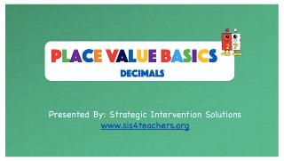 Place Value Basics – Decimals