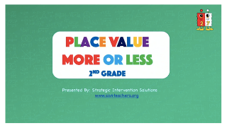 Place Value More or Less – 2nd Grade
