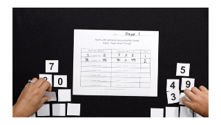 K-5 Math Game: Place Value Triangle