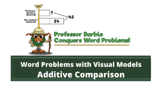 Word Problems with Visual Models: Additive Comparison