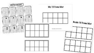 Ten Frame Template Collection
