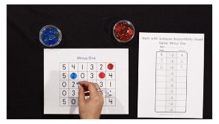 K-5 Math Game: Minus One